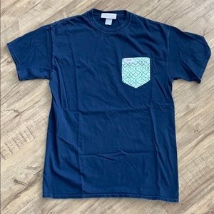 Navy Blue Fraternity Collection Pocket Tee